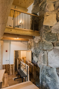 The new Ravine Lodge includes a larger main room, with a small balcony (above) and a storage room for the dining tables (below). Photo by David Kotz '86.