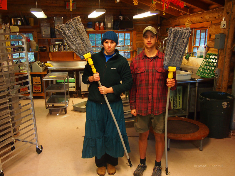 Cold weather brings special challenges for the Lodge crew, such as these mopsicles.
