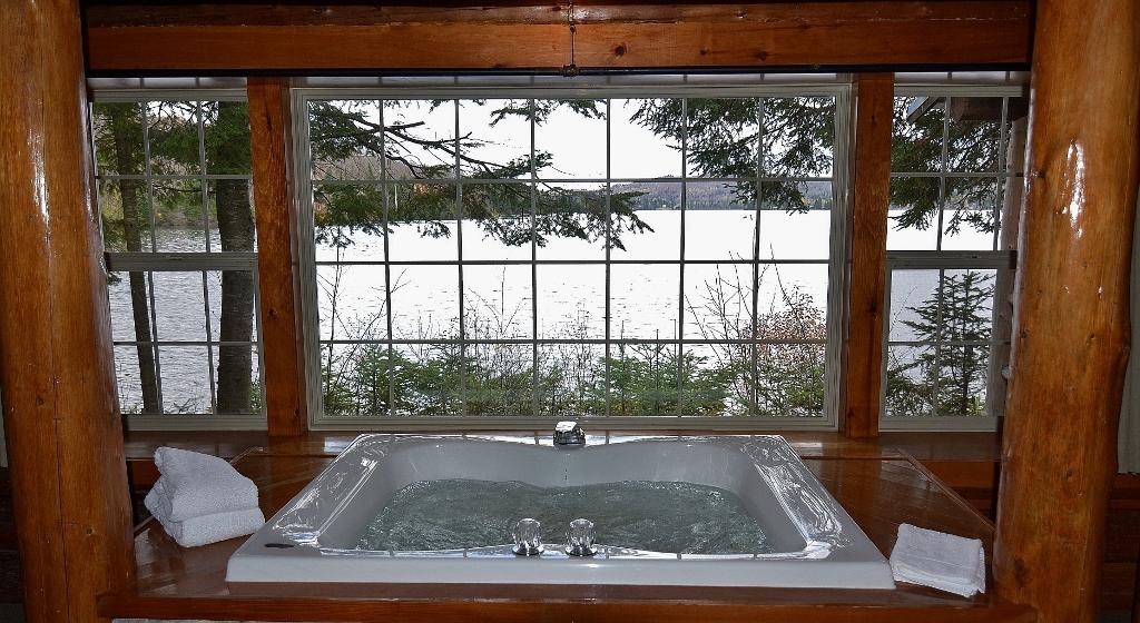 Angler's Cove rental cabin at Tall Timber Lodge.
