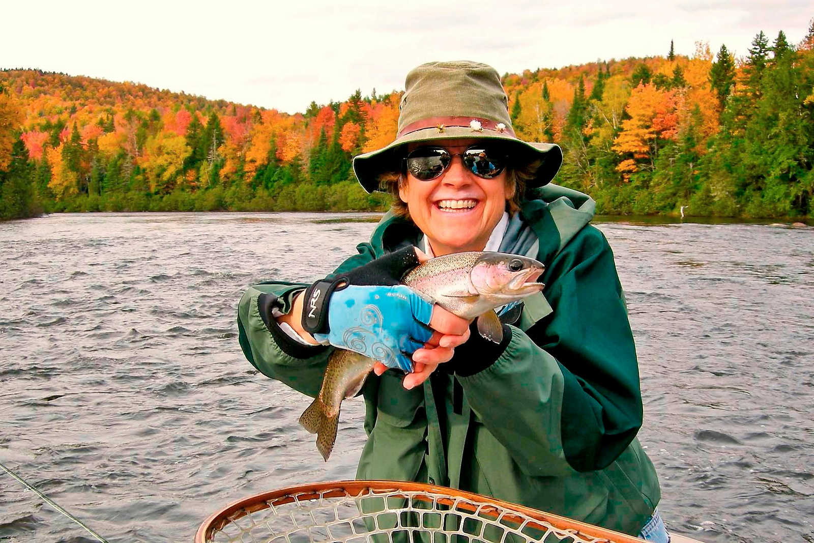 Cathy Trower with a beautiful Andro rainbow. September 29th, 2010