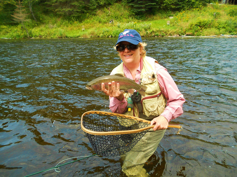 Fly fishing on the Connecticut River in Pittsburg, NH.