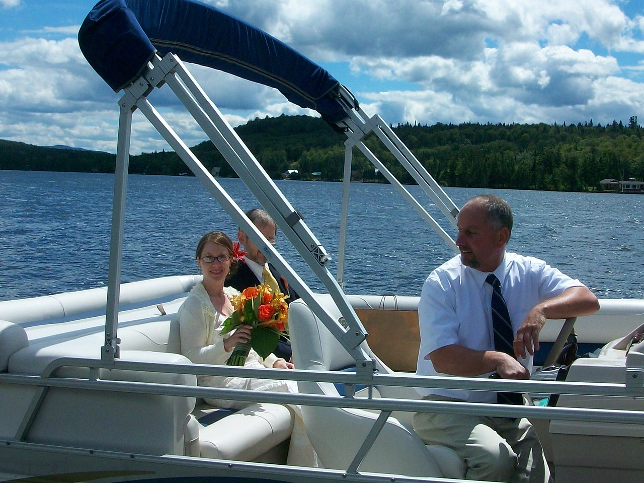 A beautiful day to have a wedding on Back Lake, Pittsburg, NH. The Darosa Wedding, August 7th, 2010