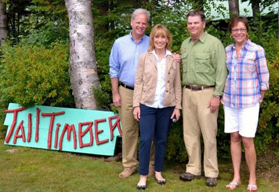 Governor Maggie Hassen at Tall Timber.
