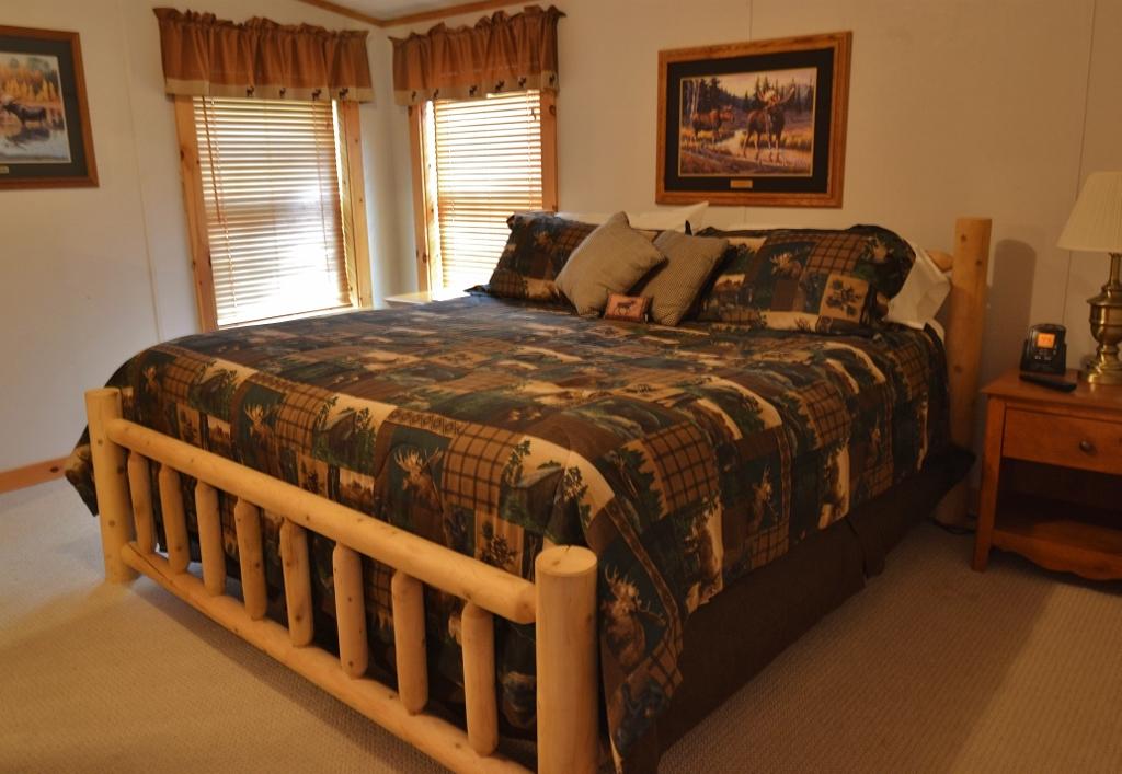 Lakeview cabin at Tall Timber Lodge, Pittsburg, NH.