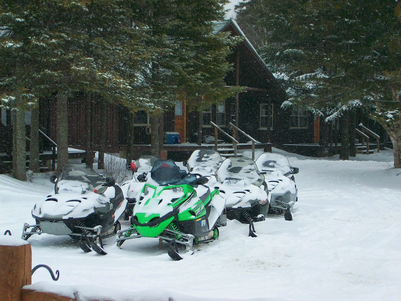 Sleds ready for another day on the trails.