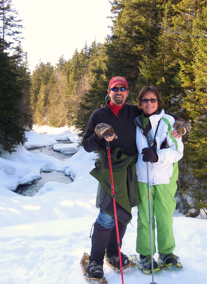 Snowshoeing to the Falls in the River, March 20th, 2011