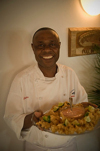 Ike the chef at Mangrove Cay Club, Andros Island, Bahamas