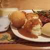 "December 6-9, 2016<br /> <br /> Mashed potatoes with gravy, roll, meat loaf, string beans, sweet potatoes, corn bread muffin, strawberry cake, cheesecake, and sweet tea<br /> <br /> Photo taken with my cell/mobile phone<br /> <br />  ""BEAU RIVAGE RESORT AND CASINO"" 2016<br />  875 Beach Boulevard<br />  Biloxi, MS 39530-4241<br />  Telephone Number: (228) 386-7111<br /> <br />  Official website: <br /> <br /> <a href=""https://www.beaurivage.com/en.html"">https://www.beaurivage.com/en.html</a>"