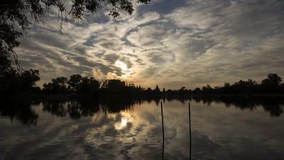 Muggy morning, 7/23/2017 at Lodi Lake