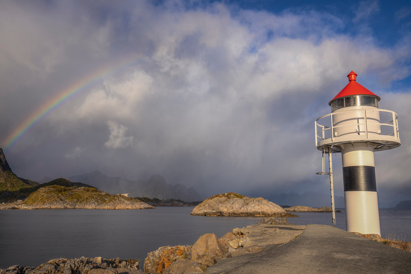 Lighthouse With Rainbow, Vagar