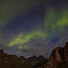 Northern Lights Over Mountains, Reine