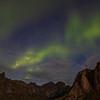 Northern Lights Over Mountains, Reine