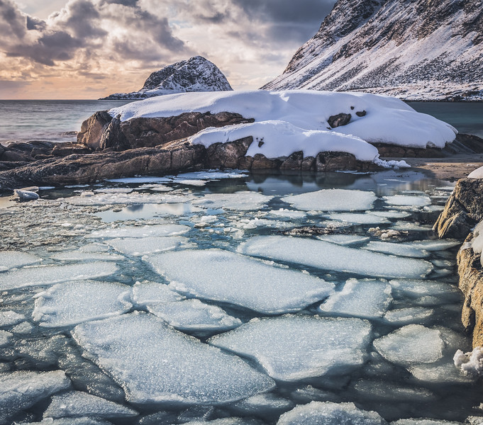 Broken Ice! - Haukland Beach, Lofoten