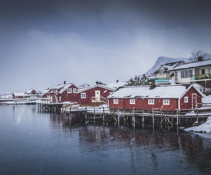 When it snows in Lofoten!
