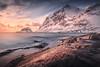 Fire and Ice! - Haukland Beach, Lofoten, Norway