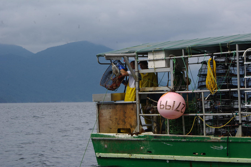 Commercial prawn fishery takes place in spring and early summer.