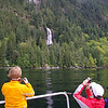 Friel Falls in May, during a charter tour of the Egmont Highlights.