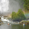 A magic rainbow at the base of Chatterbox Falls, late September.