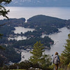 Overlooking Pender Harbour from Mt Daniel.