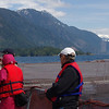 One of our groups visiting a Greig Seafoods salmon farm in Sechelt Inlet.