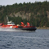 Canada Coast Guard hovercraft in Dodd Narrows, Nanaimo.