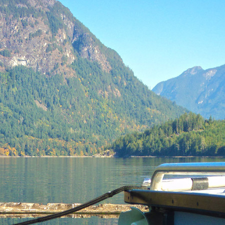 At Tzoonie Wilderness Camp looking up Narrows Inlet.