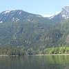 Panorama of the north west shorline in Princess Louisa Inlet.