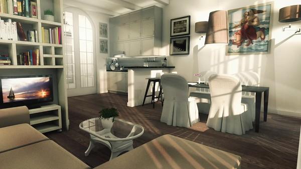 H10-1 livingroom-kitchen