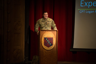 Army Captain Logan Phillips visits Taft for Veterans Day