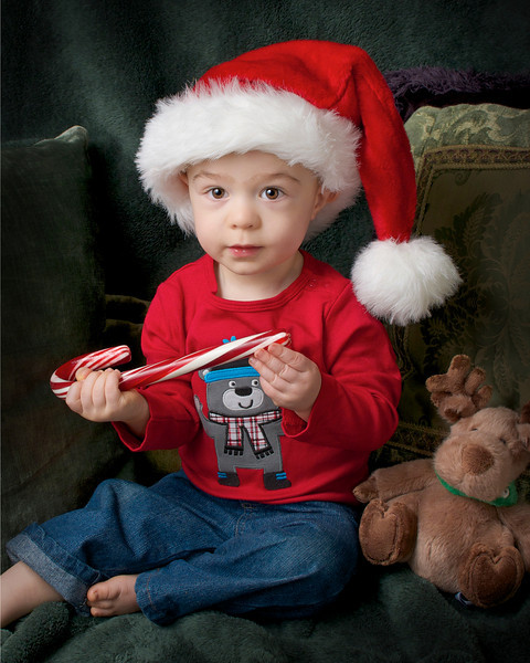 Logan's second Holiday season. He is a bit over 15 months here.