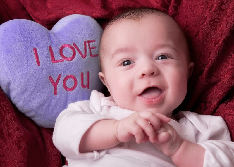 Logan's first Valentine's photo