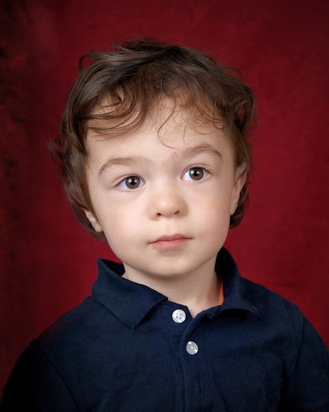Logan's portrait for his 2nd birthday