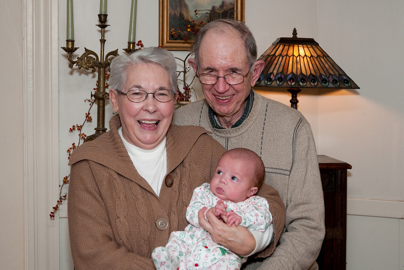 Grandparents meet Logan. <br /> <br /> Dec. 11, 2009