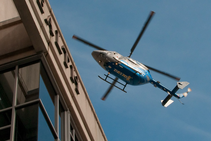 Caught this rescue copter as it was landing on the hospital roof
