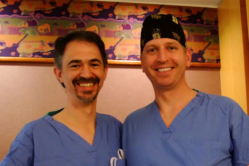Day 1. Dad and Dr. Steven Barnes, the awesome anesthesiologist