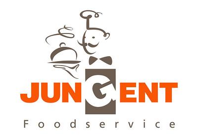 Jungent Foodservice logo usage Adobe Illustrator file Orange - Pantone 1655; Pantone warm grey 11;  CMYK 0;74;98;0 RGB Orange R249;G86;b2 RGB Grey R109;G94;B81  Grayscale black 40%; Black 100%