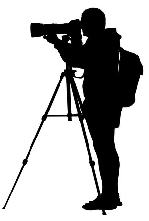 //www.dreamstime.com/stock-photo-photographer-silhouettes-set-three-realistic-shooting-teleobjective-lens-tripod-image33129200