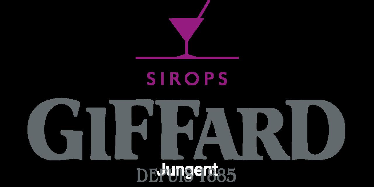 Giffard Sirops logo transparent .png Rosa C50 M100 J0 N0 or 253C pantone;  Grey C15 M0 J0 N70 or 7545C pantone