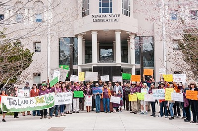 Public Lands Demonstration at the Nevada Legislature April 2017