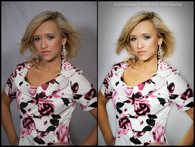 Sample of my Photoshop work for fashion photography. Before & After of Megan Willey, our new Miss Teen NC International, 2010.