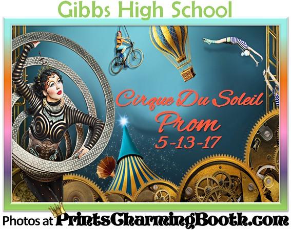 5-13-17 Gibbs High School Cirque Du Soleil Prom logo