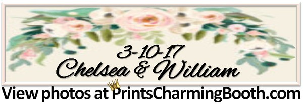 3-10-17 Chelsea and William Wedding logo - 4 strip