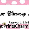 8-23-15 Happy 1st Birthday Lily logo