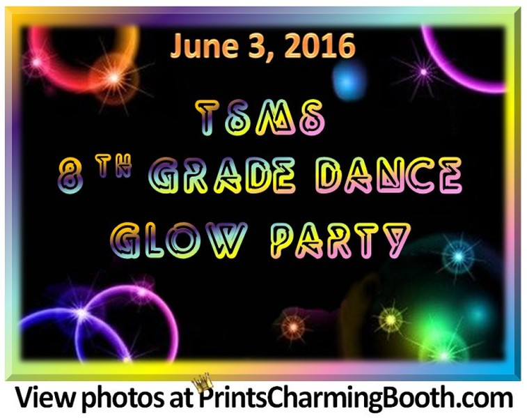 6-3-16 TSMS 8th Grade Dance Glow Party logo