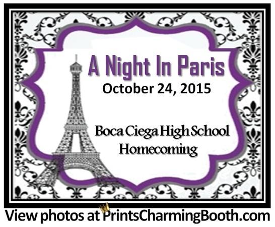 10-24-15 Boca Ciega High School - A Night in Paris Homecoming logo