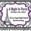 10-24-15 Boca Ciega High School - A Night in Paris Homecoming logo