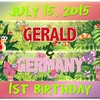 7-15-15 Gerald and Germany 1st Birthday Logo - version 2