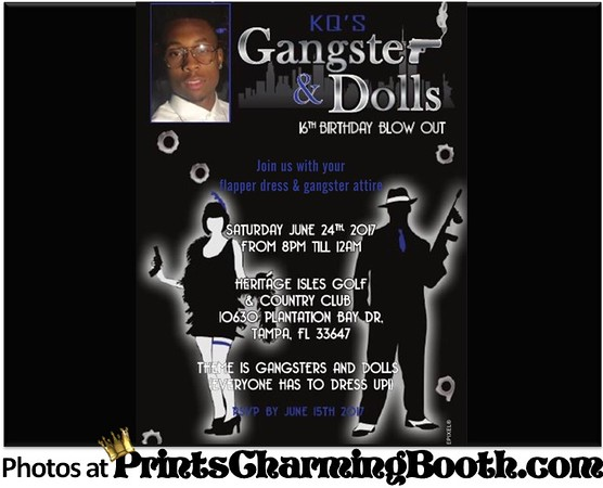 6-24-17 Kel's 16th Gangsta & Dolls logo