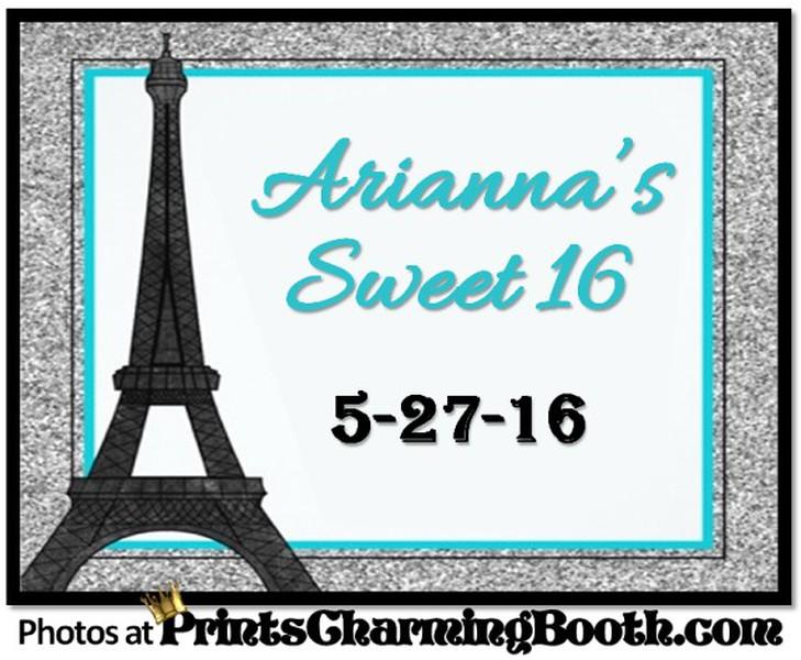 5-27-16 Arianna's Sweet 16 logo