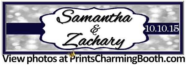 10-10-15 Samantha and Zachary Wedding logo - 4 strip format